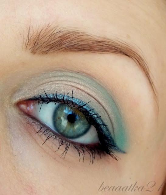 Makijaż w odcieniach turkusu