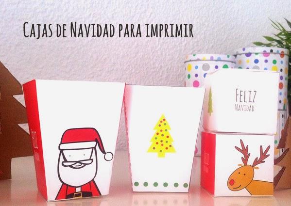Manualidades 15 cajas de navidad para imprimir - Cajas de carton de navidad ...