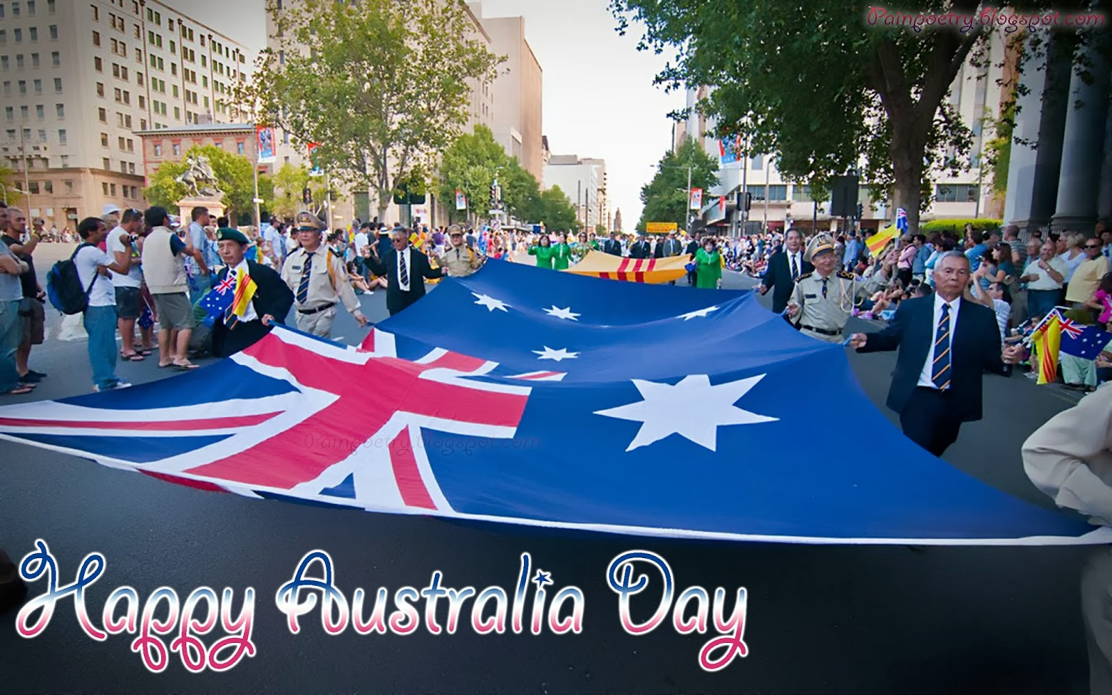 Happy-Australia-Day-The-Show-Of-Huge-Flag-Celebation-Of-26-January-Image-HD-Wide