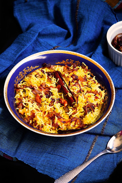 bengali sweet rice pilaf with cashew nuts and raisins recipe
