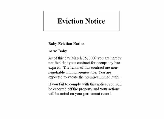 Food Fashion and Flow Queen Princess Mommy – Copy of an Eviction Notice
