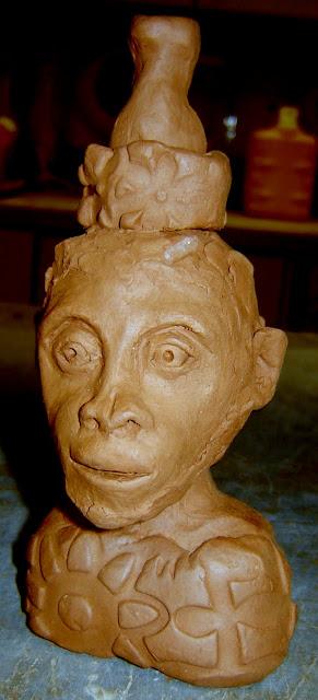 Monkey Finial for African Man Lamp