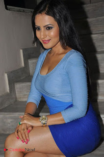 Anu Shmruthi Latest  Picture Gallery in Blue Mini Dress at Ishtasakhi Audio Release  0011.jpg