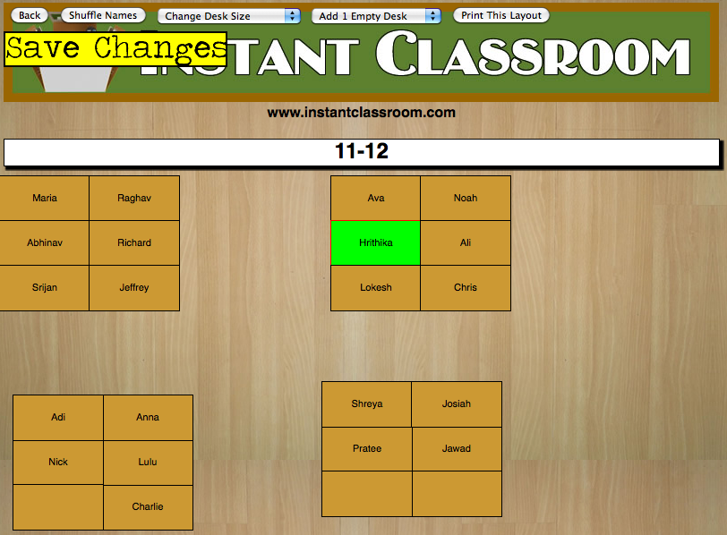 Classroom Seating Chart Maker Was the seating chart.