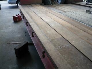 枕木 ケンパス 荷台 施工例