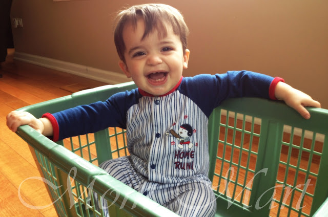 Fun in a laundry basket