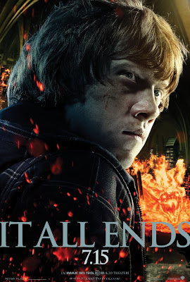 "Harry Potter and the Deathly Hallows: Part 2 ""It All Ends"" Portrait Movie Poster Set - Rupert Grint as Ron Weasley"