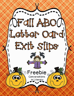 ABC Letter Cards for exit slips
