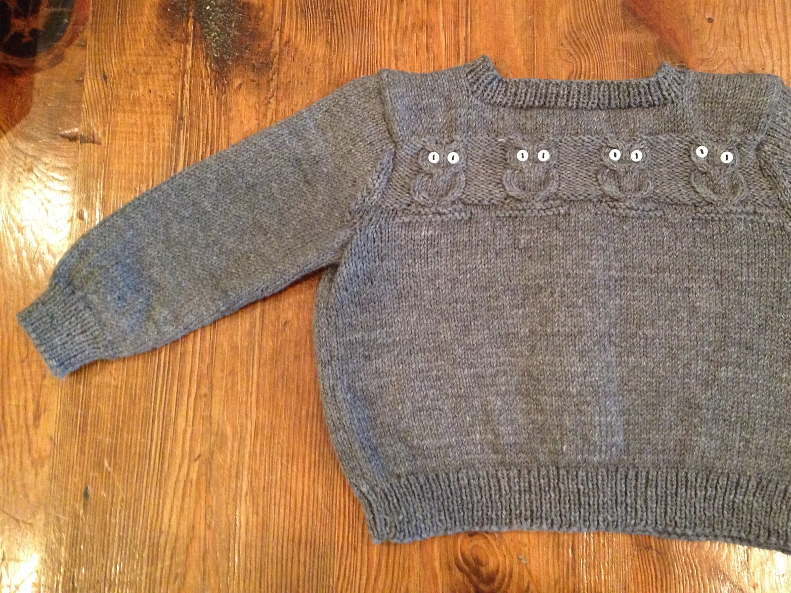 Knitting Pattern For Owl Jumper : be my baby - Knitionary