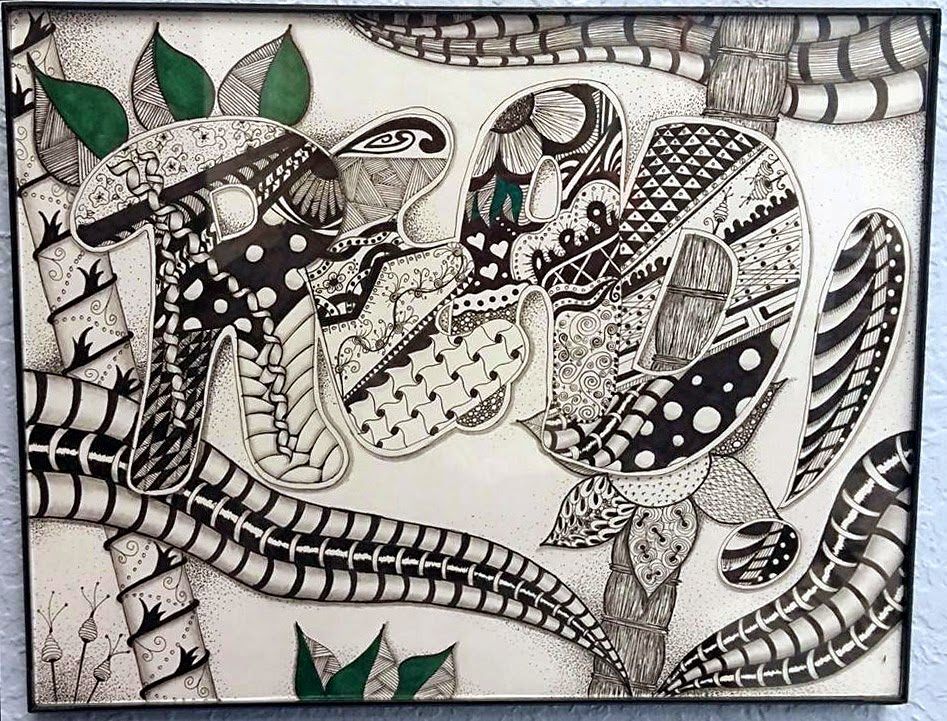 zentangle, zendoodle, zentangling