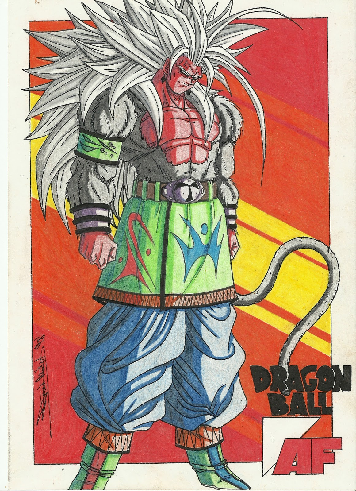 Dragon ball af after the future february 2012 - Goku 5 super saiyan ...