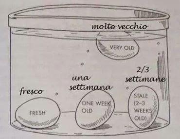 come capire se l'uovo è fresco