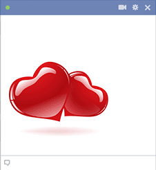 Glossy Red Hearts Emoticons