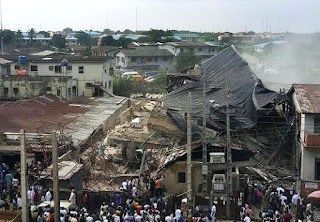 4-storey Building Collapses in Yaba, Lagos(Photos)