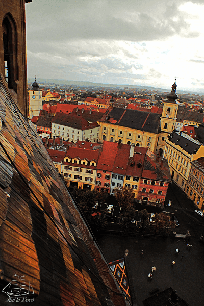 panorama sibiu turn biserica evanghelica