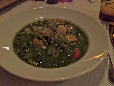 Minestrone soup at Focaccia Chennai