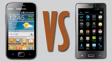 Samsung Galaxy Ace Duos GT-S6802 vs. iball Andi 5c