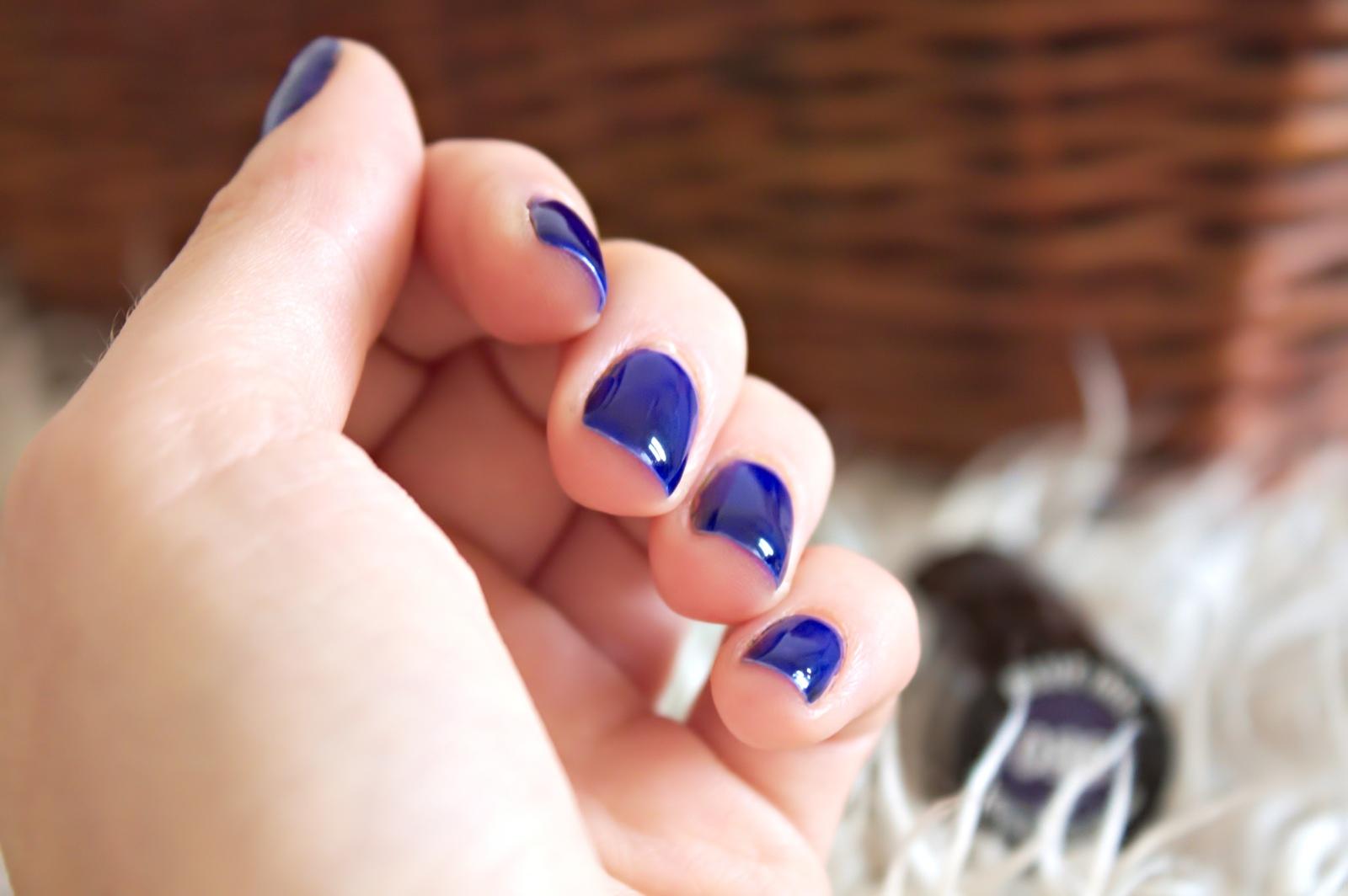 Lakier hybrydowy - Semilac Blue Ink 088 - jedna warstwa