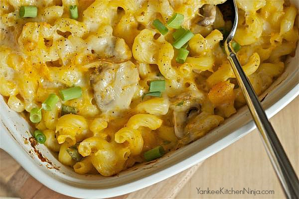 Healthy butternut mac and cheese