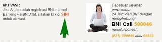 Cara Aktivasi Internet Banking Bank BNI