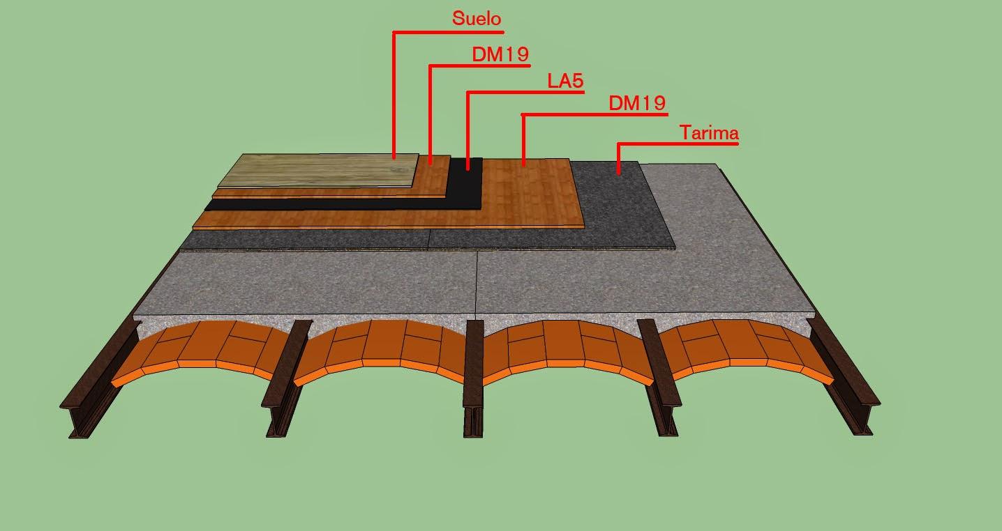 Metrasoni esquemas para aislamientos ac sticos de suelos - Aislamientos acusticos para paredes ...