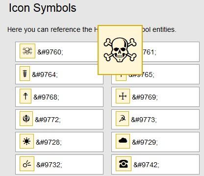 Daftar Icon Symbol HTML Lengkap