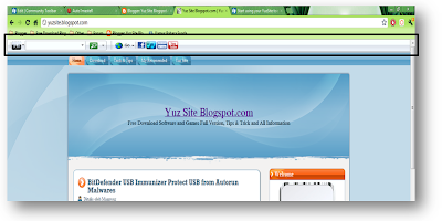 Free Download YuzSite Toolbar