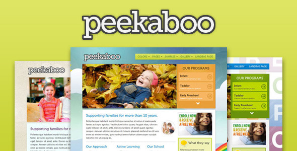 Pekaboo WordPress Theme Free Download by ThemeForest.