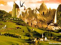 Membuat Kota Fantasy dengan Photoshop (Menggabungkan 11 Gambar) Bagian #2