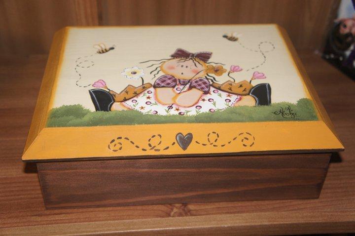 Artesania abona cajas madera pintadas a mano y - Baules pintados a mano ...