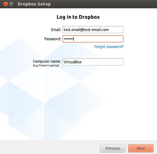 Enter your details, click 'Next' then shut down Ubuntu