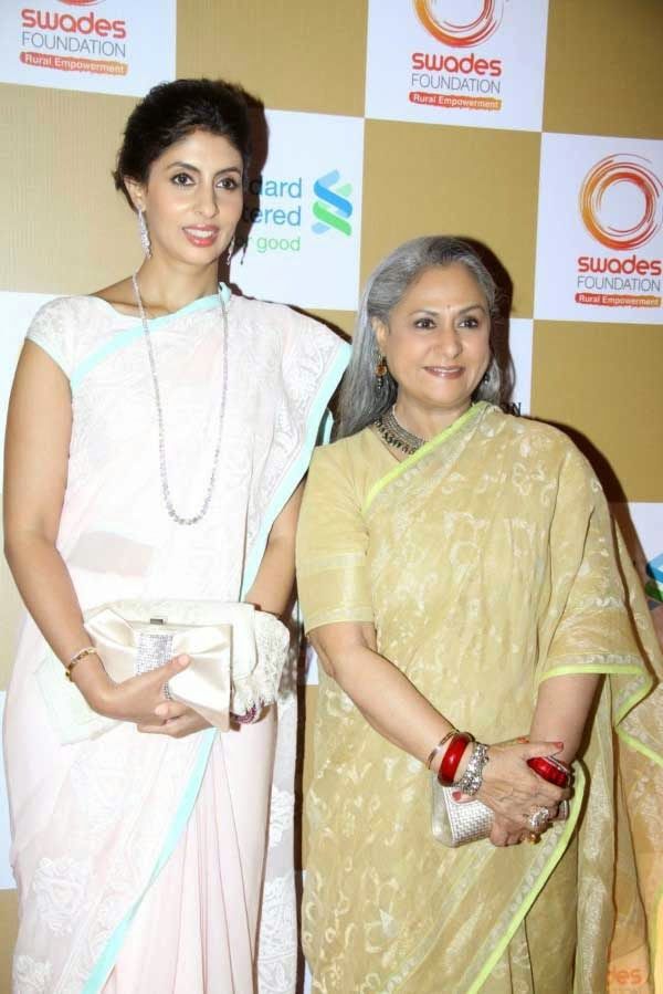 Shweta and Jaya Bachchan at Swades Foundation Fundraiser show