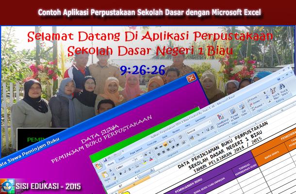Contoh Aplikasi Perpustakaan Sekolah Dasar dengan Microsoft Excel