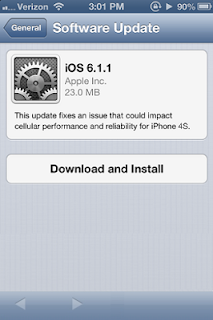 iOS 6.1.1 OTA Update for iPhone 4S