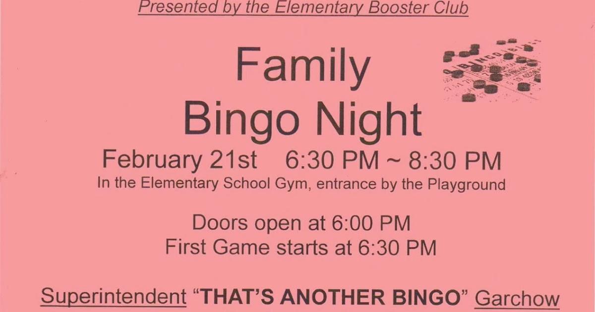 Rainier Lions Club Family Bingo Night
