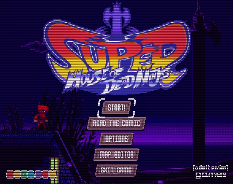 Super House of Dead Ninjas title screen