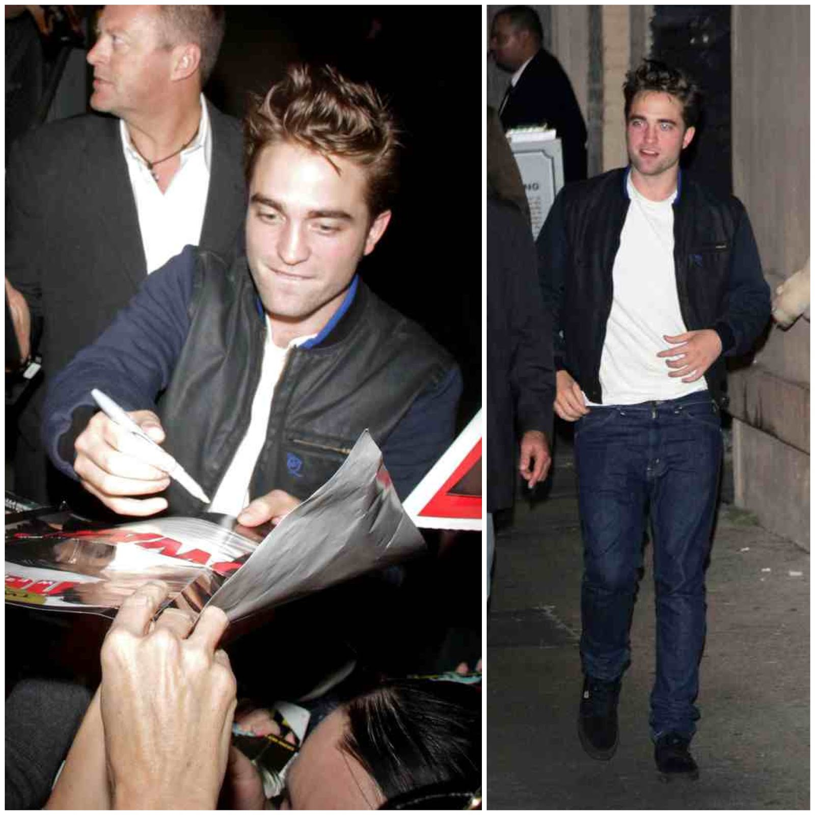 00O00 Menswear Blog London Celebrity Style Robert Pattinson in McQ Alexander McQueen - Jimmy Kimmel Live show, Hollywood