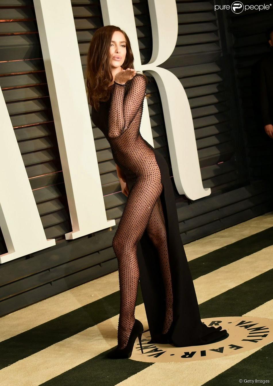 Irina Shayk  com problemas de afirmação?  Festa Vanity Fair 2015