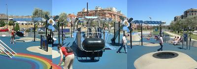 un parque infantil lleno de color y de elementos de juego innovadores