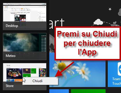 Chiudi App