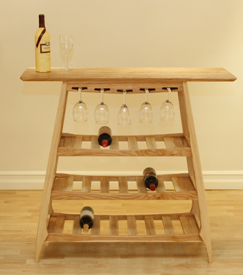 wine storage and serving table