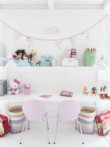 dormitorio nordico de cuento para dos princesas