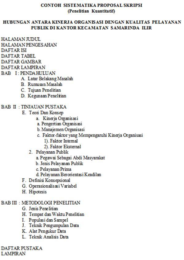 Proposal Penelitian Dan Penulisan Skripsi