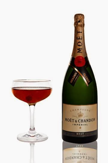 Elettra Wiedemann's Moet Bijou Rouge cocktail for the Golden Globes