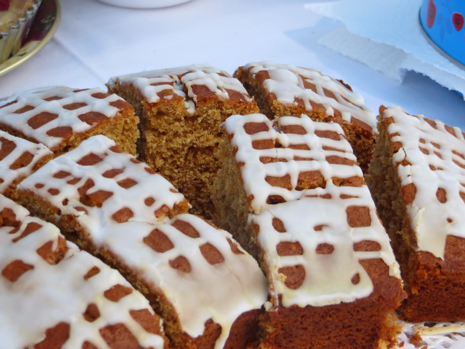 Homemade Spiced cake, available fot £1  slice.