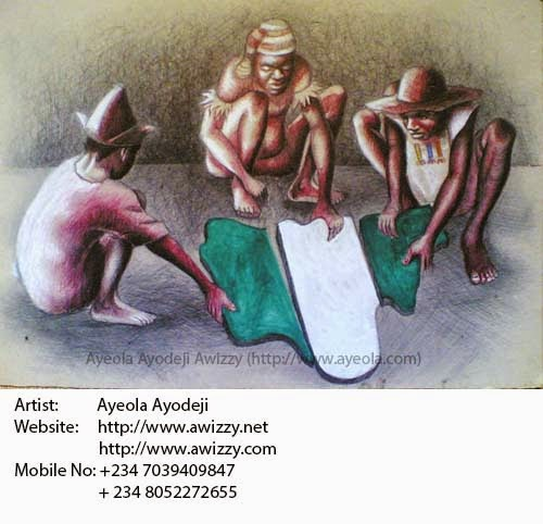 reknown art painting from nigeria african artist ayeola ayodeji abiodun