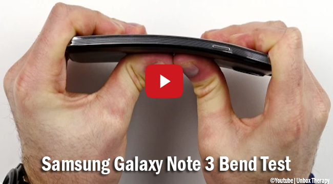 Watch Galaxy Note 3 Bend Test in Response with People's Request after iPhone 6 Plus Amid Bend Test Failure