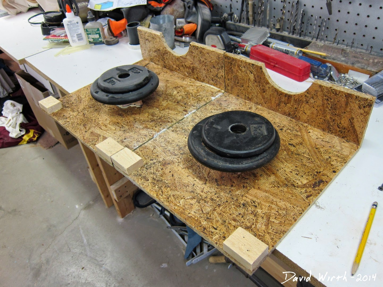 clamp wood handle to tool box