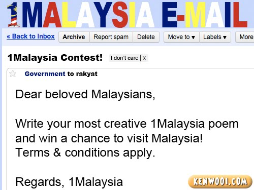 1malaysia email contest