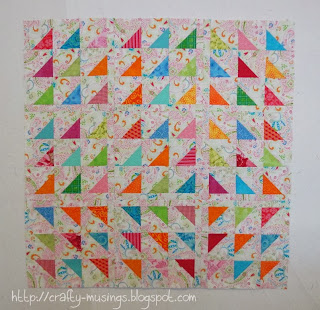 Floating Triangles quilt top
